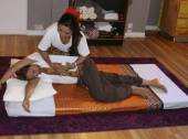 Sidelying Thai massage